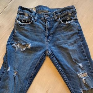 Hollister Slim Boot Distressed Jeans 31x32